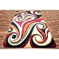 swirl area rug whole rugs depot modern swirls red green orange swirl area rug red