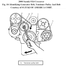 need a serpantine belt diagram for 2008b sx4 crossover attached image