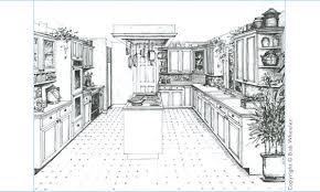 kitchen drawing perspective. Plain Kitchen Kitchen Perspective Drawing With T