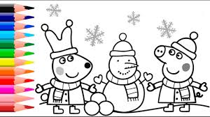 Christmas Coloring Paper Peppa Pig Coloring Pages Peppa Pig Christmas Coloring Book Youtube