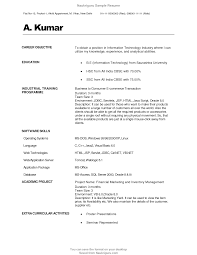 Fresher Objective In Resume Camelotarticles Com