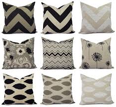 Black And Beige Decorative Pillows