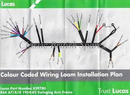bsa lucas main wiring harness 839780 1954 62 a7 a10 bsa a10 lucas wiring diagram