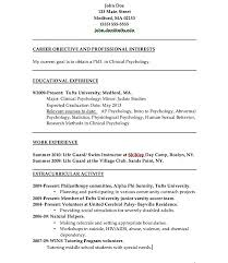Psychology Resume Examples Stunning Psychology Resumes Goalgoodwinmetalsco