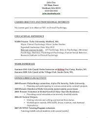 Psychology Resume Examples Stunning Psychology Resumes Goalgoodwinmetalsco