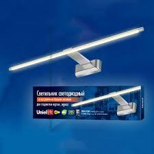 <b>Подсветка для картин Uniel</b> ULT-F32-9W/WW IP20 Silver картон ...