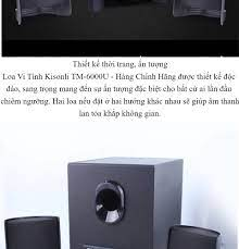 Loa vi tính 2.1 Kisonli TM-6000U tích hợp Bluetooth Usb thẻ nhớ âm thanh  chắc sôi động. Loa Công Suất Lớn Loa Bluetooth Không Dây. Bảo Hành 12 Tháng