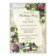 a birthday invitation elegant purple floral birthday invitation