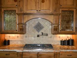 Travertine Kitchen Backsplash Dining Kitchen Attractive Travertine Backsplash And Pot Filler