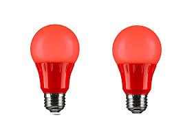 120 Volt Red Led Light Sunlite 80148 Red Led A19 3 Watt Medium Base 120 Volt Ul Listed Led Light Bulb Last 25 000 Hours 2 Pack