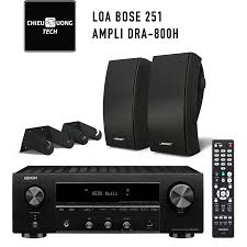 Chỉ 26,200,000đ - Dàn âm thanh nghe nhạc SP006280: Loa Bose 251, Ampli  Denon DRA-800H
