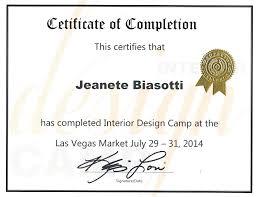 certificate of interior design. Certificate Interior Design Certification Online Free Of O