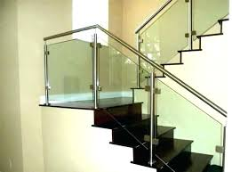 staircase glass railing cost of stair steel average to replace
