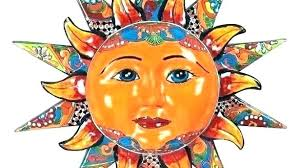 sun moon outdoor wall art interesting large amazing ceramic