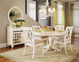 inspiring dining room applying white furnitures with pedestal round dining room tables and chairs furnished with