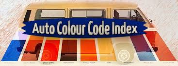 Auto Paint Charts And Color Codes