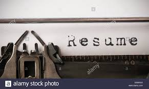 Composite Image Of The Word Resume Stock Photo Royalty Free Image