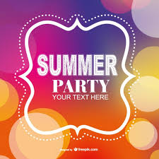 invitation party templates summer party poster invitation template vector free vector