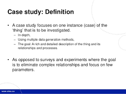 Case study psychology definition   Blag hypothesis   Professional