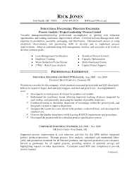 Industrial Engineer Resume Resume Cover Letter Template