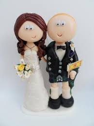 Wedding Cake Topper Couple Pictures Scottish Bride And Groom