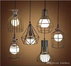super bright vintage led pendant lights industrial lighting cafe bar bedroom restaurant living room birdcage pendant light hanging lamp drum pendant light