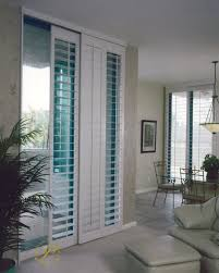 image of poly shutter sliding glass door window treatment