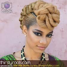 blonde natural hair updo hairstyles