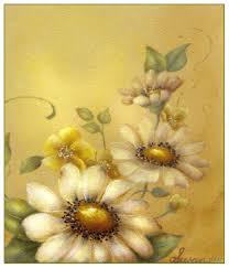 daisy flowers acrylic painting pattern susan abdella art