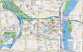 philadelphia downtown map