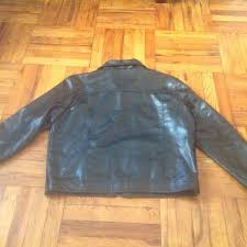 a collezioni men leather jacket size xl