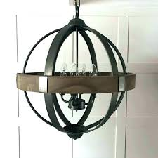 metal orb chandelier ge orb chandelier round wood band metal 4 arm extra and small chandeliers metal orb chandelier