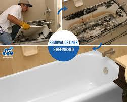 bathtub liner removal bathtub refinishing