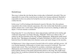 macbeth witches essay the influences of the witches prophecies on  the role of the witches in macbeth s downfall gcse english document image preview
