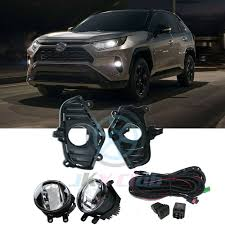 Hybrid Driving Lights Details About Bumper Bezel Led Driving Light Fog Lamps Wiring Set J For Toyota Rav4 2019 20
