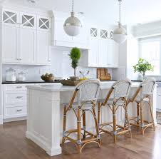 White Kitchen with French bistro bar stools