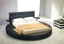bed with nightstands attached. Interesting Bed Interesting Platform Bed With Nightstands Attached Leatherette Round  Palazzo Black King Size Full Size Inside L