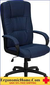 ergonomic home high back navy blue fabric executive swivel office chair b font