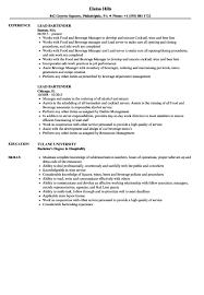 Bartending Resume Examples Cool Lead Bartender Resume Sample 48 Chelshartmanme