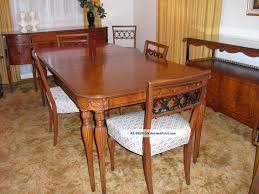 Broyhill Attic Heirloom Dining Table New Chevron Vintage Broyhill Dining Table Home Kitchen Dining
