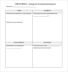 Blank Vocabulary Worksheet Template 8 Blank Vocabulary Worksheet Templates Free Word Pdf