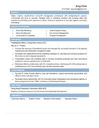 Fundraising Officer Sample Resume Fundraising Officer CV CTgoodjobs Powered By Career Times 5
