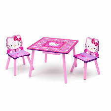 Hello Kitty Table And Chair Set With Storage Walmartcom - Coffee table with chair