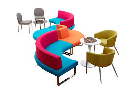 modern office sofa. colorful office furniture modern combination fabric breakout sofa set waiting reception lounge a