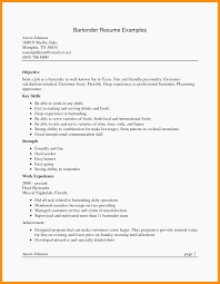 Example Bartender Resume Bartender Resume Sample Bartender Server