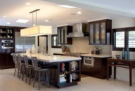 Custom Contemporary Kitchen Cabinets - Alder Wood Java Finish Shaker