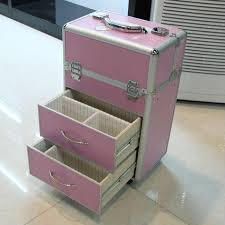 soft sided rolling makeup case from seya professional trolley rolling makeup case with drawers middot description