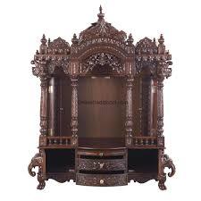 God Mandir Designs Crafted Mandir Temple Teak Wood For Home Pearl Handicrafts