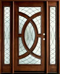 Series Mahogany Solid Wood Front Entry Door Single With Sidelites Gd ...
