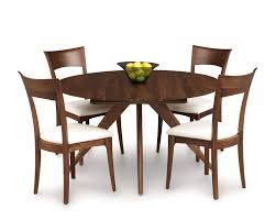 catalina round dining room table in walnut